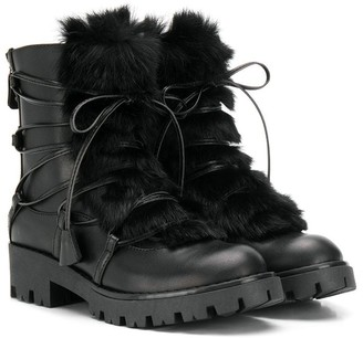 DSQUARED2 Faux Fur Detail Boots