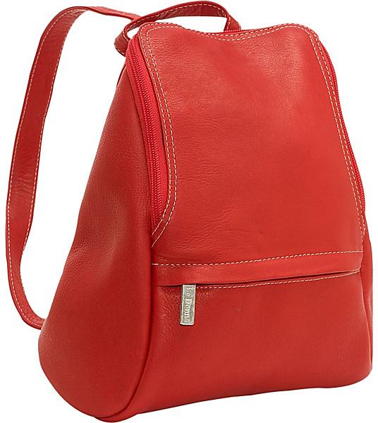 Le Donne Leather U-Zip Mini Back Pack