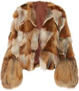 Anna Sui Pachwork Fox Fur Coat