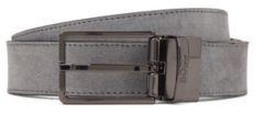 HUGO BOSS Reversible Belt In Italian Leather - Dark Grey