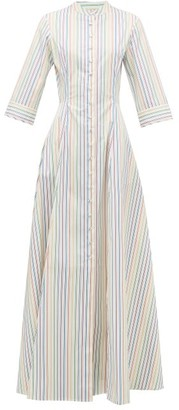 Evi Grintela Amaryllis Striped Cotton Shirt Dress - Multi