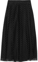 J.Crew Fia Polka-dot Flocked Tulle Skirt - Black