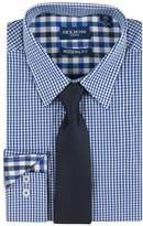 Nick Graham Men's Modern-Fit Patterned Easy-Care Spread-Collar Dress Shirt & Tie Set
