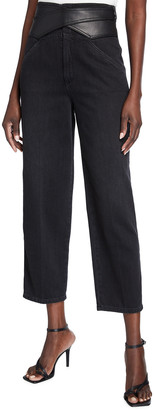 Pinko Shelby High-Rise Straight-Leg Jeans