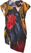 Vivienne Westwood Cave Draped Floral-print Gauze Top - Saffron