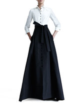 Carolina Herrera Shirtwaist Taffeta Ball Gown