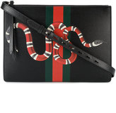 Gucci web and snake messenger bag - men - Leather - One Size