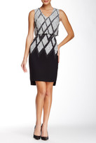 Debbie Shuchat Printed Fit & Flare Dress
