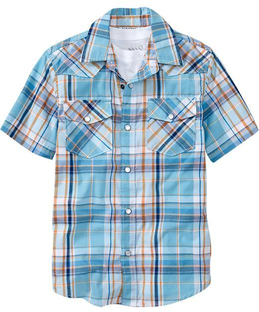 Old Navy Boys Western Shirts