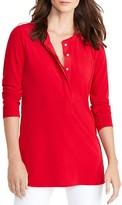 Lauren Ralph Lauren Jersey Henley Tunic