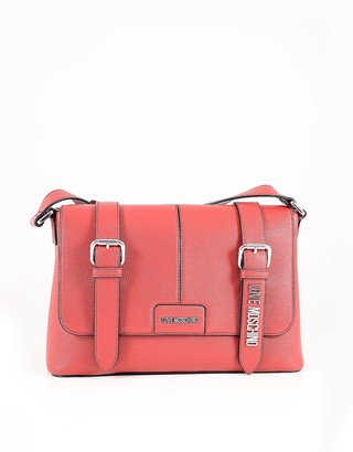 Love Moschino Red Eco Leather Messenger Bag