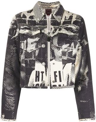 Jean Paul Gaultier Pre Owned 1997 face print denim jacket