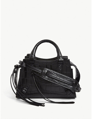 Balenciaga Neo Class City croc-embossed leather bag