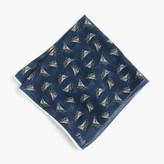 J.Crew Drake's® cotton-silk pocket square in schooner print