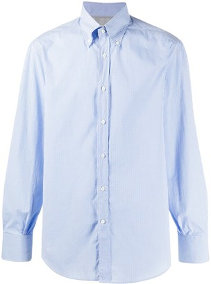 Brunello Cucinelli Micro Gingham Shirt
