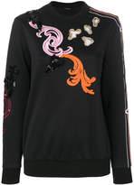 Versace Baroque embroidered sweatshirt