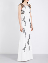 Roland Mouret Westbrook crepe and lace gown