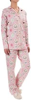 BedHead Patterned Cotton Knit Pajamas - Long Sleeve (For Women)