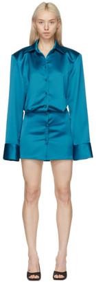 ATTICO Blue Margot Mini Dress