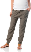 A Pea in the Pod Pull On Style Cotton Woven Skinny Leg Maternity Jogger Pant