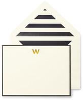 Kate Spade Monogram W Correspondence Cards - Set of 10