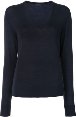 Joseph V-neck knitted jumper