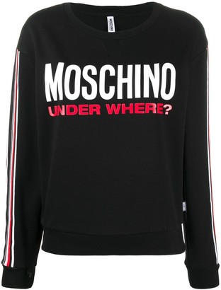 Moschino Under Where print sweatshirt
