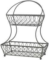 Gourmet Basics Loop & Lattice 2-Tier Basket