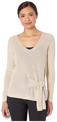 Nic+Zoe Flaunt Tie Sweater (Beechwood) Women's Clothing