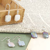 Otis Jaxon Silver Jewellery Iridescent June Birthstone Silver Pearl Earrings