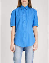 Sandro Contrast-stitch cotton shirt