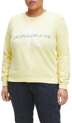 Calvin Klein Jeans Inclusive Vegetable Dye Monogram Sweat Top Lt