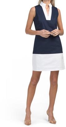 Color Blocked Tunic Dress