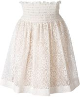 RED Valentino elasticated waistband lace skirt