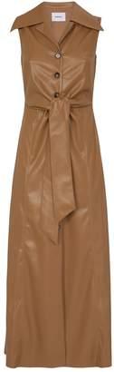 Nanushka Faux Leather Sharma Shirt Dress