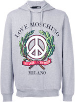 Love Moschino In Love We Trust hoodie - men - Cotton/Spandex/Elastane - XS