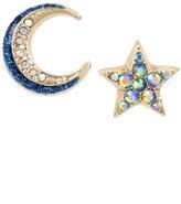 Betsey Johnson Celestial Starlet Mismatch Stud Earrings