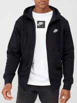 Nike Sportswear Club Fleece Full Zip Hoodie - Black