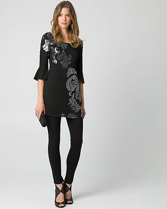 Le Château Sequin Scoop Neck Tunic Top