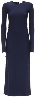 MARCIA Econyl Midi Dress W/ Button Sides