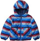 Patagonia Reversible Tribbles Jacket (Baby) - Mini Fitz Roy Stripe/Violetti-6 Months