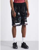 Off-White Diagonal-striped galaxy cotton-jersey shorts