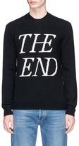 McQ 'The End' slogan intarsia wool-cashmere sweater