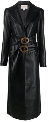 MATÉRIEL Faux Leather Trench Coat