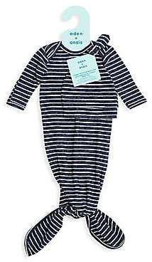 Aden Anais aden + anais aden + anais Baby Boy's Two-Piece Snuggle Knit Knotted Gown & Hat Set