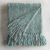 Pier 1 Imports Chenille Streamers Mineral Striped Throw