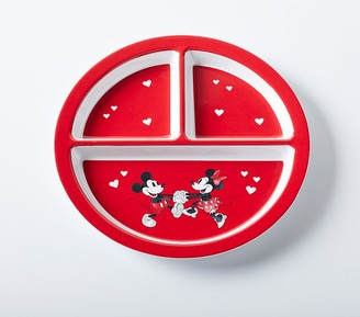 Pottery Barn Kids Disney Mickey Mouse Valentines Divided Plate