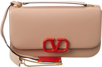 Valentino Vlock Leather Shoulder Bag