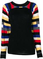 Sonia Rykiel striped sleeve sweater