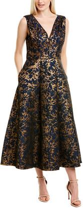 Kay Unger Printed Midi Dress
